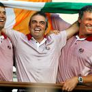 Padraig Harrington, Paul McGinley and Darren Clarke