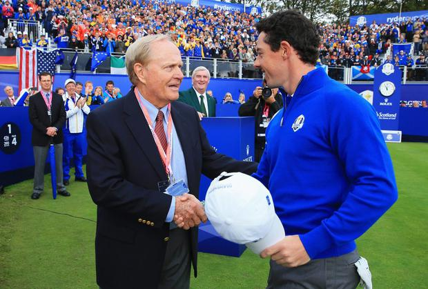 Rory McIlroy with Jack Nicklaus