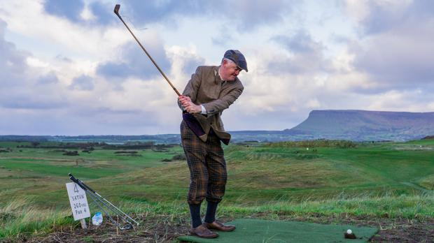 Stepping back in time: Captain Kevin Flanagan in plus twos and tweed