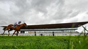 Mac Swiney, with Kevin Manning up, on their way to winning the Galileo Irish EBF Futurity Stakes at The Curragh in August 2020. Photo: David Fitzgerald/Sportsfile