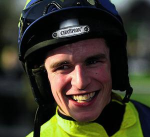 23 April 2013; Jockey Danny Mullins after winning the Growise Champion Novice Steeplechase on Mount Benbulben. Punchestown Racecourse, Punchestown, Co. Kildare. Picture credit: Stephen McCarthy / SPORTSFILE