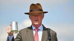Trainer Willie Mullins celebrates at Punchestown in May. Photo: Sportsfile