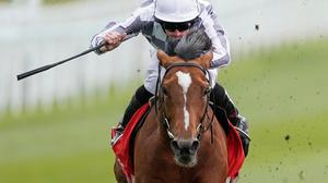 Japan ridden by Ryan Moore on their way to winning the tote+ Pays You More At tote.co.uk Ormonde Stakes during Ladies Day of the Boodles May Festival 2021 at Chester Racecourse