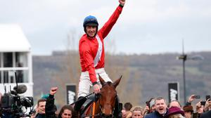 Davy Russell returned to the saddle at Downpatrick today after an absence of just over 11 months