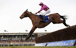 Barry Geraghty and Big Zeb on their way to victory in the 2010 Champion Bumper.