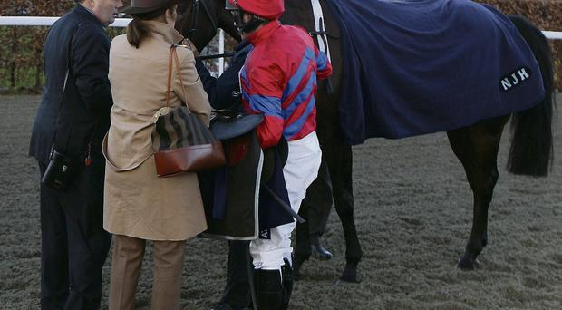 Trainer Nicky Henderson (left) with Sprinter Sacre ridden by Barry Geraghty.