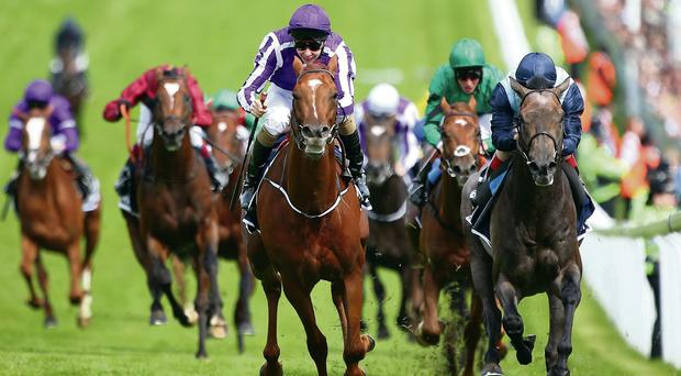 Joseph O'Brien onboard Australia during the Derby win at Epsom in June