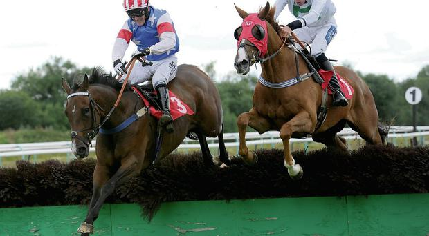 Tony McCoy is one win short of Martin Pipe's 4,191 winners after his win aboard Stonemadforspeed (L) at Southwell
