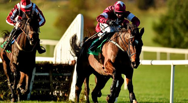 Milsean (R), here winning at Naas, can score at Thurles