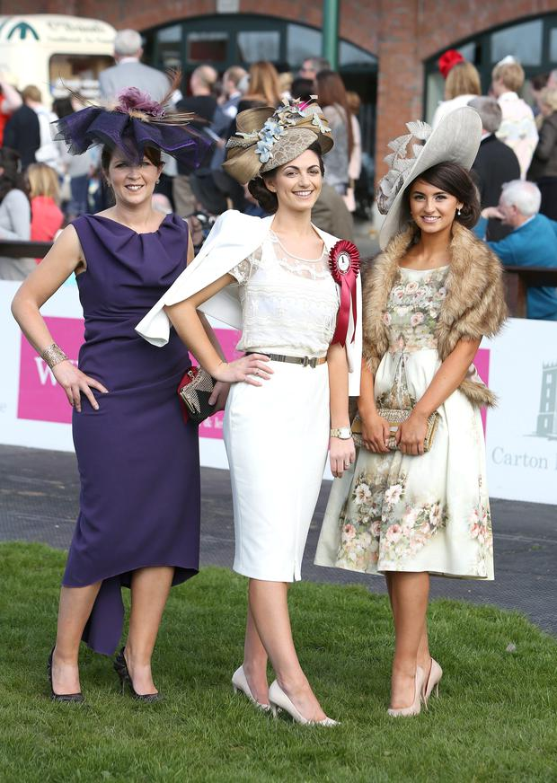 0bc292781b1 ... best dressed ladies at Leopardstown Races. Ciara Murphy from Dunboyne  who was the winner of the Carton House Most Stylish Lady