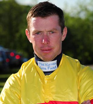 Jockey Andrew Lynch who is backing the Kieran Gore Fund
