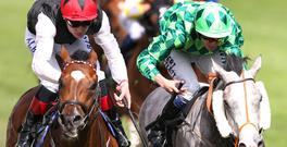 Free Eagle and Pat Smullen (left) edge out The Grey Gatsby under Jamie Spencer in the Princes of Wales's Stakes at Ascot yesterday REUTERS