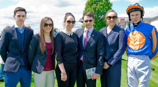 The O'Brien family, (from left) Donnacha, Ana, Sarah Aidan, Anne Marie and Joseph O'Brien at the Curragh last weekend