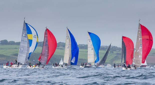 Division 1 boats competing on final day of the ICRA Sovereigns Cup off Kinsale