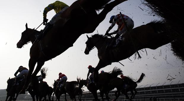 'Racing gets under way with the six-furlong Listed contest that Gordon Lord Byron contests' Stock photo: AFP/Getty