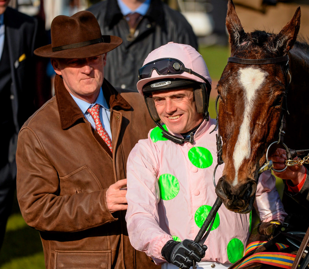 Willie Mullins and Ruby Walsh. Photo: Sportsfile
