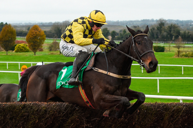 Al Boum Photo on the way to victory at Limerick last month and he is a strong favourite at Limerick today. Photo: Sportsfile