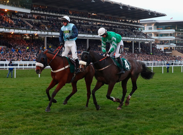 So close, yet so far as myself and Mall Dini (right) come off second best to Missed Approach and Noel McParlan in yesterday's Kim Muir PA