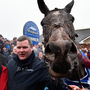 Gordon Elliott with General Principle after the horse edged out the Willie Mullins-trained Isleofhopendreams in the Irish Grand National – he will be hoping to get the better of Mullins again at Punchestown this week. Photo: Seb Daly/Sportsfile