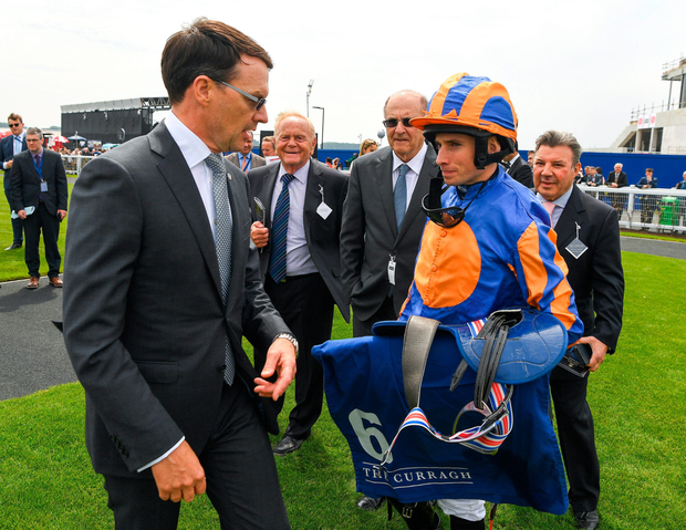 Aidan O'Brien and Ryan Moore team up with Ten Sovereigns in the 2,000 Guineas. Photo: Sportsfile