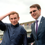 Trainer Aidan O'Brien (right) and jockey Ryan Moore. Photo: Sportsfile