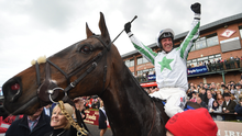 Robbie Power celebrates on Our Duke after winning last year's Irish Grand National at Fairyhouse. Photo: SPORTSFILE