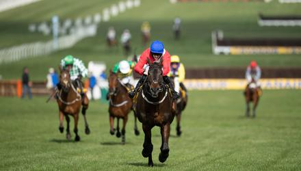 Rachael Blackmore and Allaho on the way to winning the Ryanair Chase at Cheltenham last month. Photo: Edward Whitaker/Racing Post