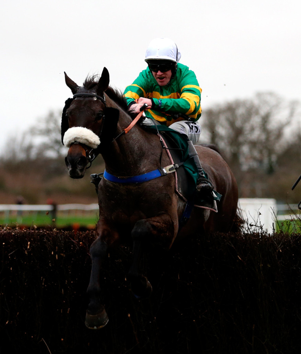 Kimberlite Candy and Richie McLernon on their way to victory at Warwick yesterday. Photo: Steven Paston. Photo: PA