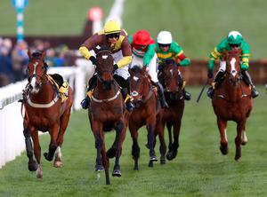 Burining Victory and Paul Townend on the way to victory at Cheltenham last week