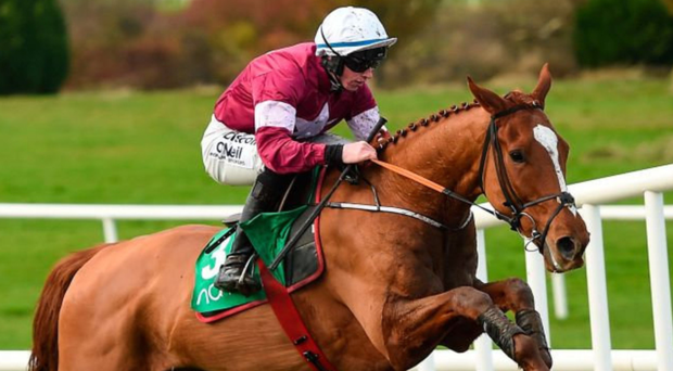 Samcro, here winning at Navan under Jack Kennedy, can deliver on the great expectations surrounding him since Michael O'Leary took out his cheque book for himkeep.
