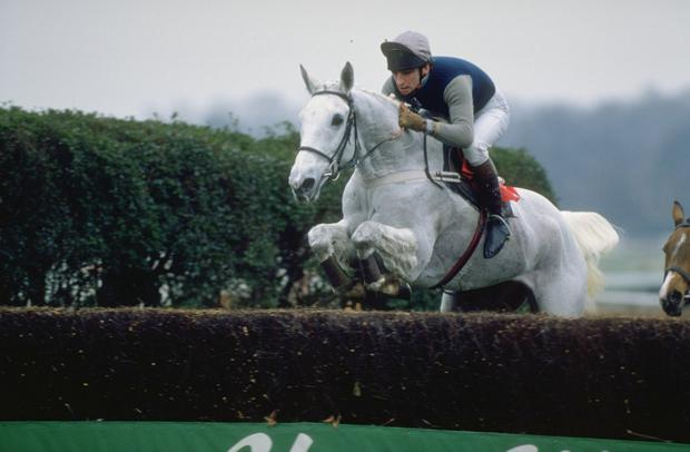 Desert Orchid with Simon Sherwood on board. Photo: Getty