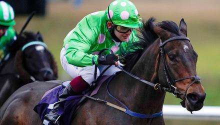 Passional ridden by Marco Ghiani on their way to winning the Heed Your Hunch At Betway Handicap at Lingfield Park in January. Photo: PA