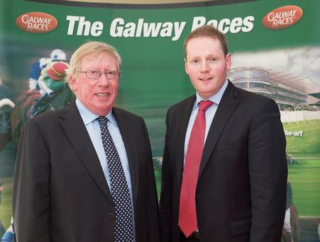 John Moloney and son Michael, who will take over as manager of Galway Racecourse when his father retires after this year's festival