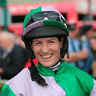 Rachael Blackmore was all smiles after partnering Camlann to victory Picture: PA