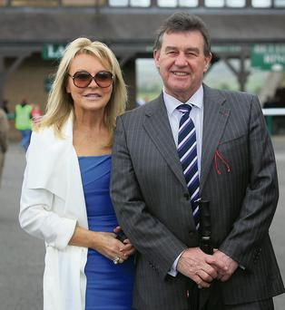 Jackie Lavin and Bill Cullen