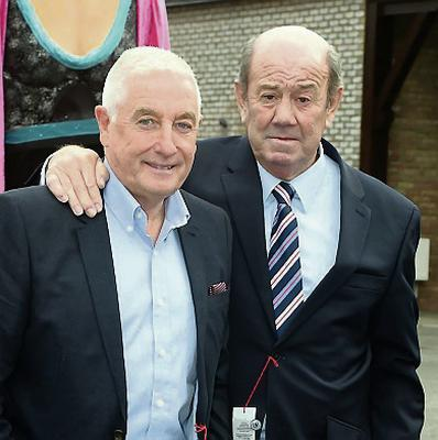 Former Liverpool manager Roy Evans with ex-Everton boss Howard Kendall. Michael Chester