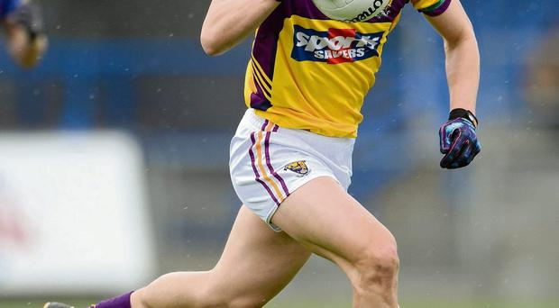 8 April 2012; Lee Chin, Wexford. Allianz Football League Division 3, Round 7, Longford v Wexford, Glennon Brothers Pearse Park, Co. Longford. Picture credit: Ray McManus / SPORTSFILE