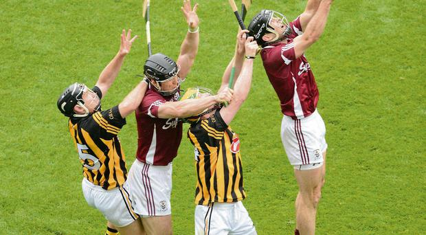 Kilkenny in action against Galway in last year's All-Ireland final