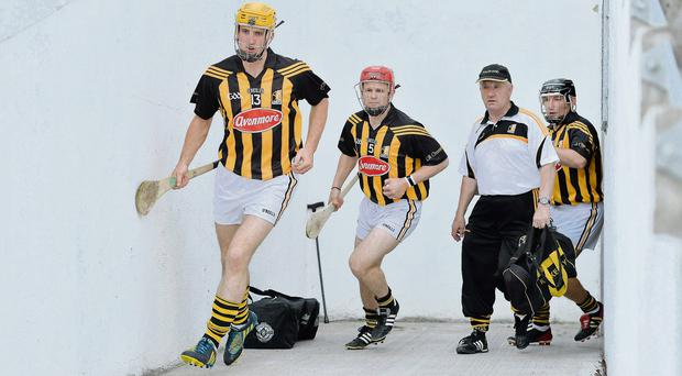 Kilkenny captain Colin Fennelly leads his charges into battle