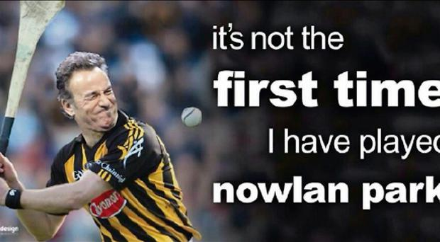 Bruce Springsteen is unlikely to wear these colours in Nowlan Park this weekend