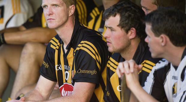 Henry Shefflin cuts a disappointed figure during extra-time of Kilkenny's qualifier clash with Waterford when he was taken off after the end of normal time