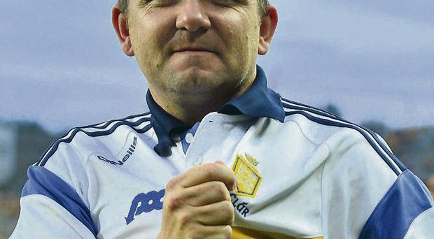 Clare manager Davy Fitzgerald celebrates his side's victory