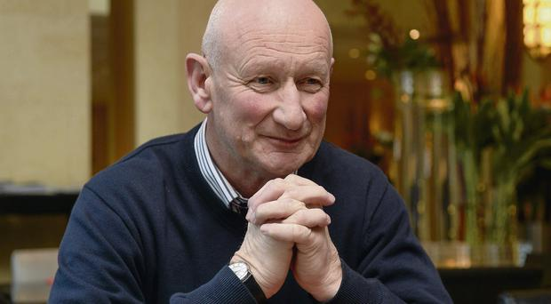 Kilkenny manager Brian Cody speaks to reporters in Shanghai