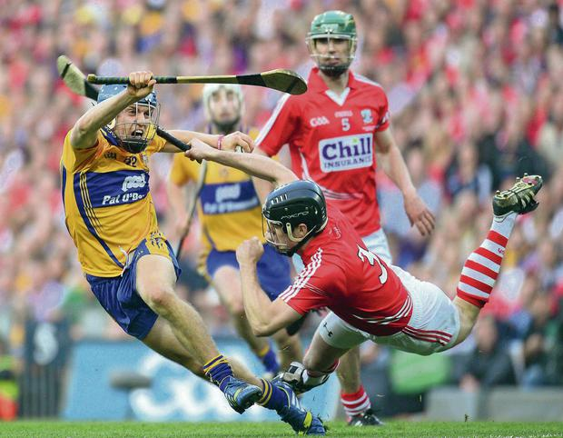 Shane O'Donnell, Clare,pictured here in action against Shane O'Neill during last year's All-Ireland SHC final replay. The social value the volunteers, and players, within the GAA have created for free for decades will, to a certain extent, be commodified by the Sky Sports deal.