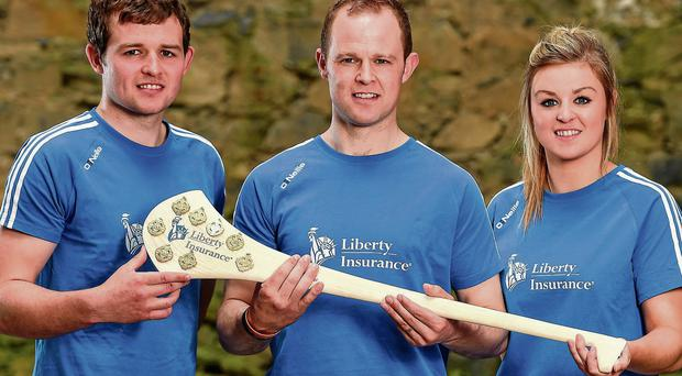 Padraig Walsh (left, alongside his sister Grace) is battling his brother Tommy for a place in Kilkenny's starting line-up sportsfile