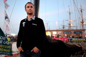 French skipper Fabrice Amedeo (p) came second, beating O'Coineen by 24 hours Photo:AFP/Getty Images