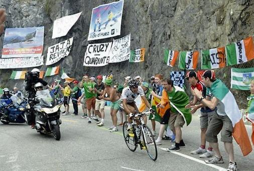 The Irish corner of Alpe d'Huez