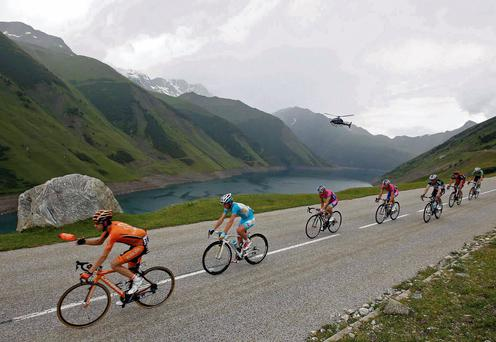 The breakaway group set the pace during the 204.5kms stage 19 of the Tour de France