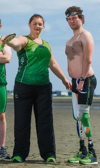 Irish Paralympic athletes Orla Barry and Darragh McDonald