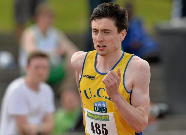 Mark English running his heat of the 400m in Santry yesterday